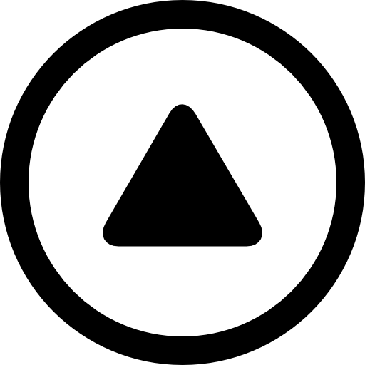 Free black and white curved triangle clipart. Up arrow rounded in