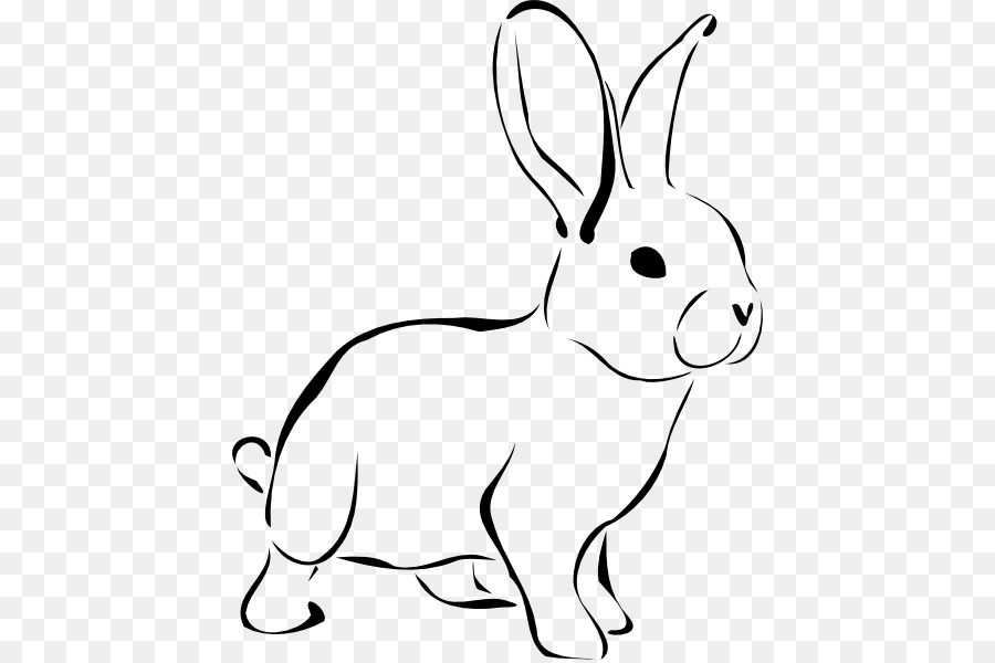 Free black and white easter bunny clipart picture free library Easter Bunny Background png download - 480*597 - Free Transparent ... picture free library