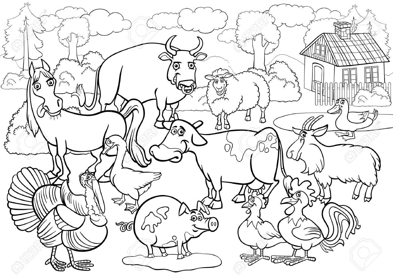Free black and white farm animal clipart svg library download Free black and white farm animal clipart 6 » Clipart Portal svg library download