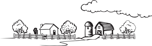 Free black and white farm animal clipart. Clip art vector download