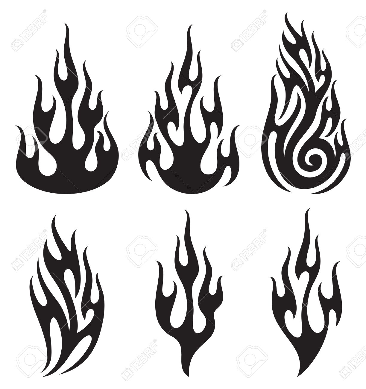 Free black and white flame clipart. Download best