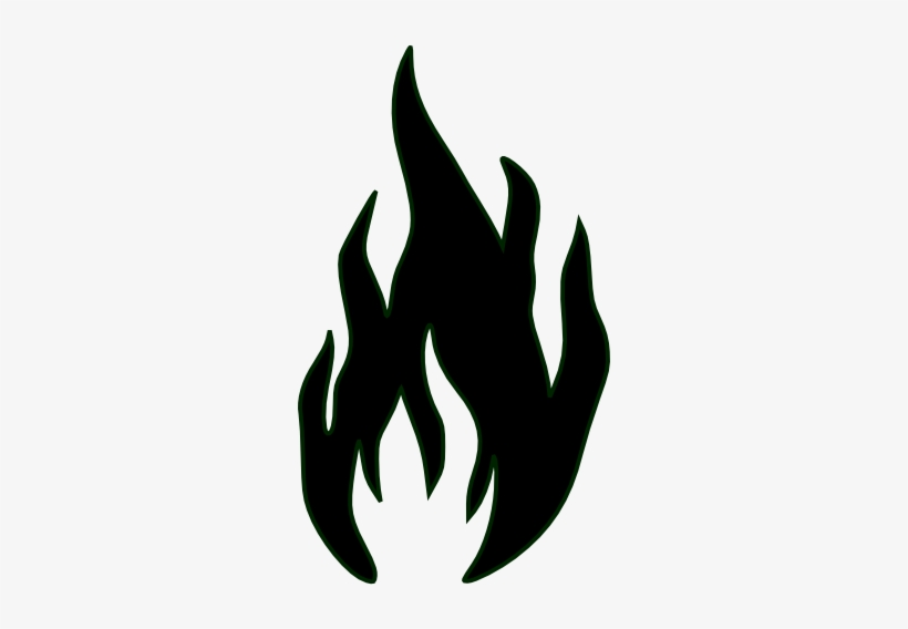 Flames in clip art. Free black and white flame clipart