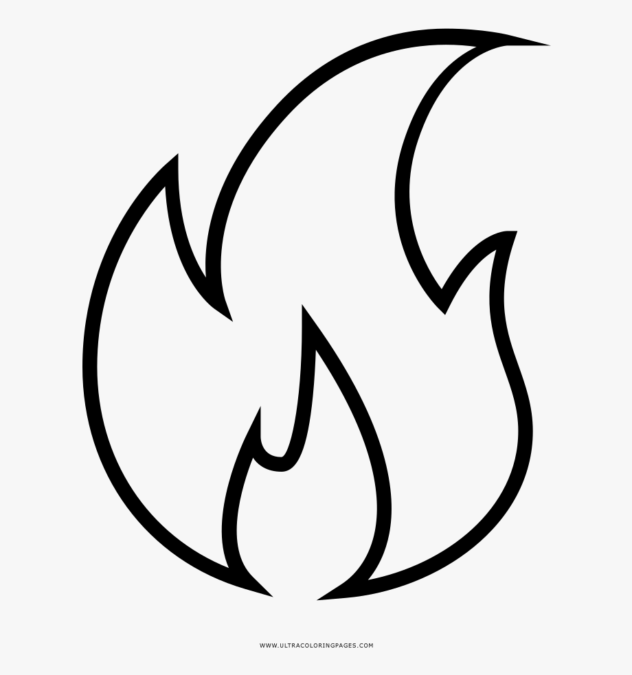 Fire cliparts . Free black and white flame clipart