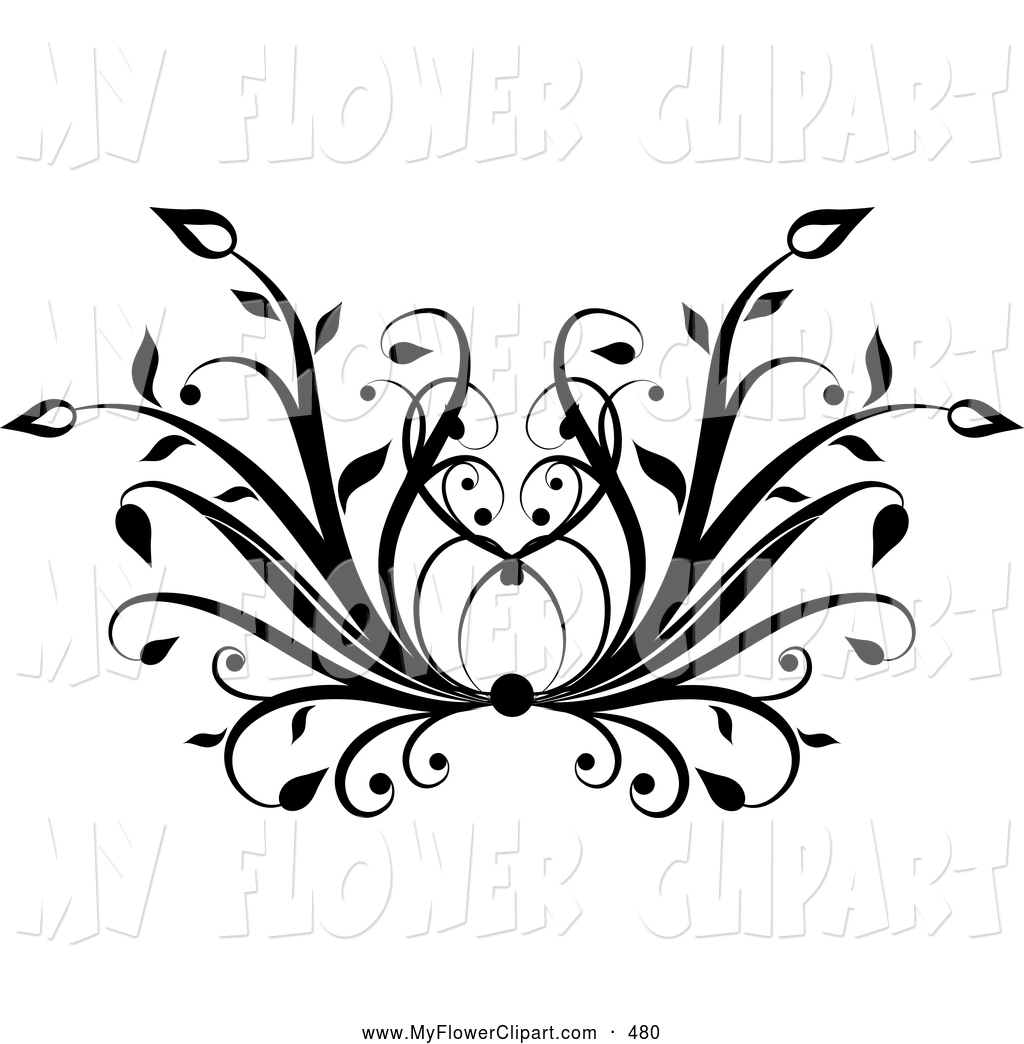 Free black and white floral clip art clipart transparent stock Floral clipart black - ClipartFox clipart transparent stock