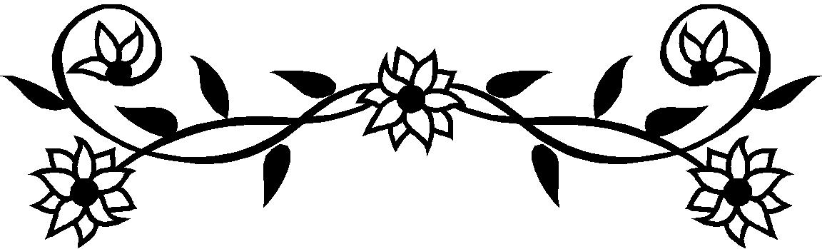 Free black and white floral clip art picture transparent Black And White Flowers Borders Clipart - Clipart Kid picture transparent