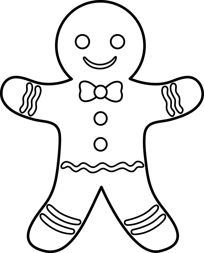 Free black and white gingerbread man clipart clip freeuse library Free Gingerbread Man Cliparts, Download Free Clip Art, Free Clip Art ... clip freeuse library