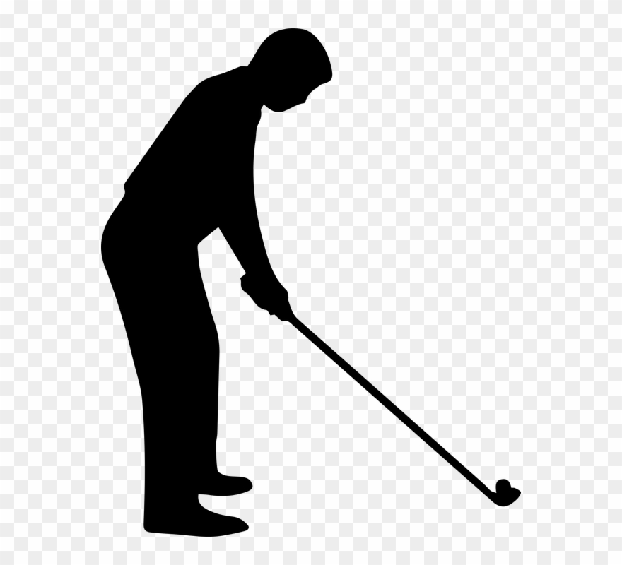 On dumielauxepices silhouette of. Free black and white golf clipart