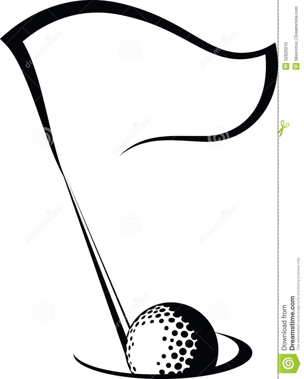 Free black and white golf clipart. Panda images