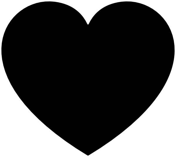 I heart clipart image black and white stock Heart clipart free heart clipart clipartio clipartpost ideas ... image black and white stock