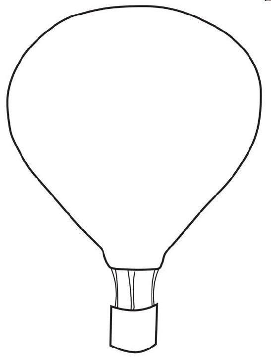 Hot air balloon clipart outline image free download FREE Printable Hot Air Balloon Template | COLLAGE & SCRAPBOOKING ... image free download