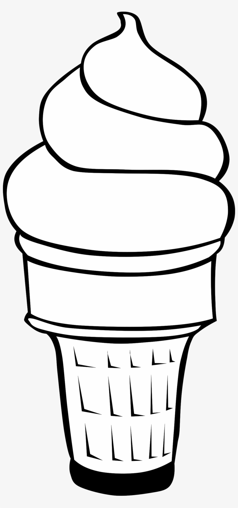 Ice cream clipart png black and white image free stock Ice Clipart Line - Cute Black And White Ice Cream Cones Clipart ... image free stock