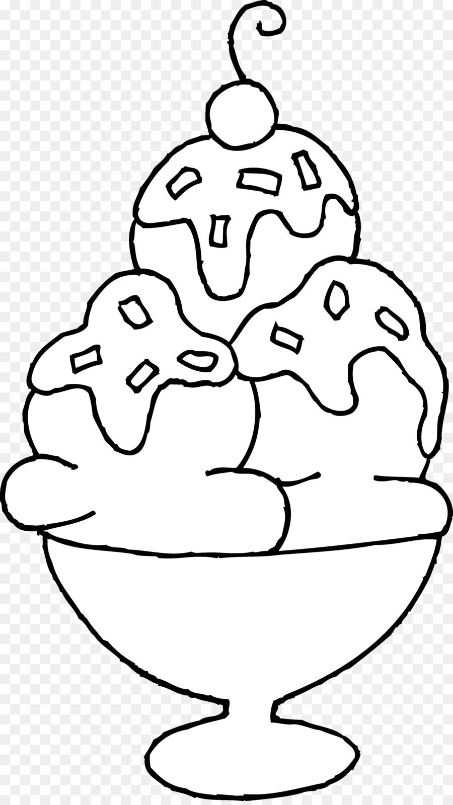 Free black and white ice cream sundae clipart. Book png download transparent