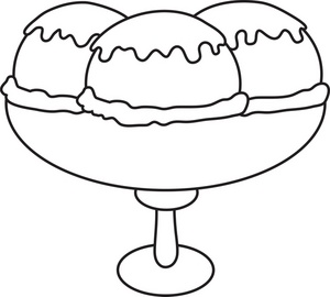Ice cream sundae bowl clipart black and white picture black and white library Ice Cream Sundae Clipart Black And White | Clipart Panda - Free ... picture black and white library