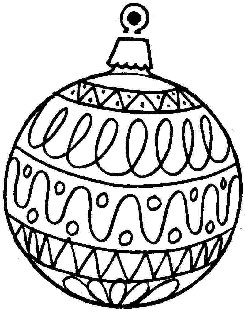Coloring printable ornament sheets. Free black and white large print christmas clipart