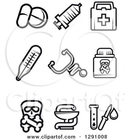 Free black and white medical clip art banner library download Clipart of a Black and White Snake and Medical Caduceus with a ... banner library download