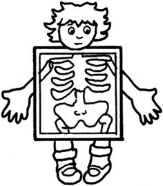 Free black and white medical clip art png library library Body cartoon clipart black and white - ClipartFest png library library