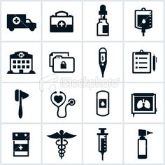 Free black and white medical clip art picture royalty free download Free Black and White Medical Icon Set | Icons, Medical and Blog picture royalty free download