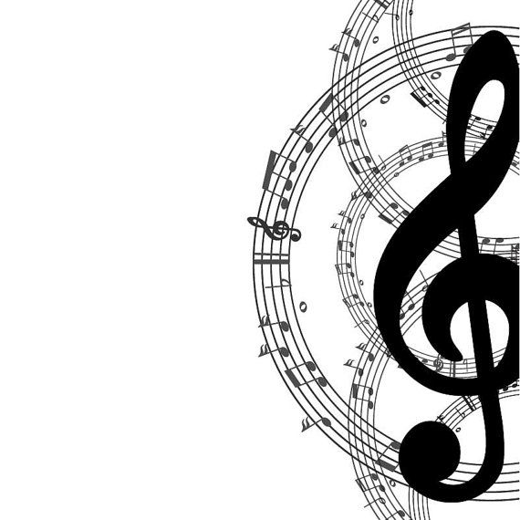 Free black and white music clipart clip art royalty free stock Music notes musical clip art free music note clipart image 1 - Clipartix clip art royalty free stock