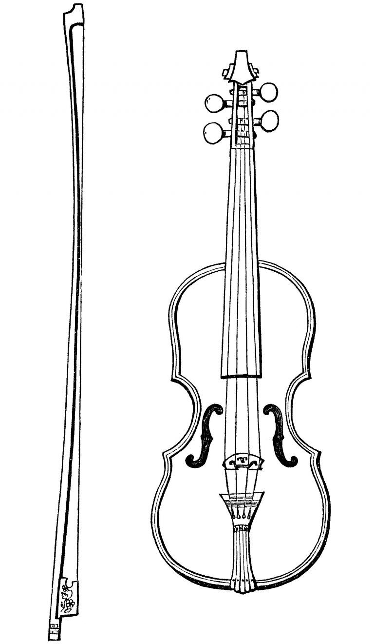 Free black and white musicians bow clipart picture black and white download Free vintage violin and bow clip art illustration | mailing idea\'s ... picture black and white download