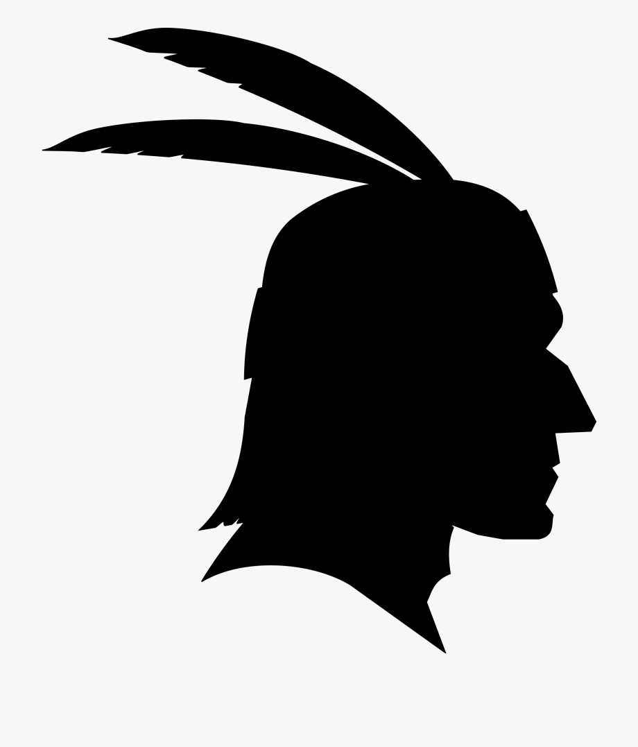 Free black and white native american clipart. Banner library thanksgiving
