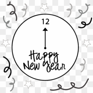 Free black and white news eve clipart. New years png images