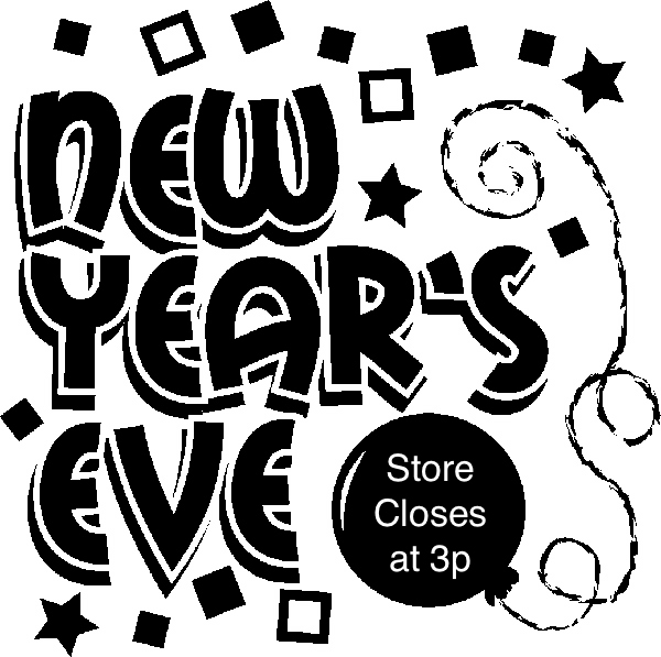 Free black and white news eve clipart. New year s store