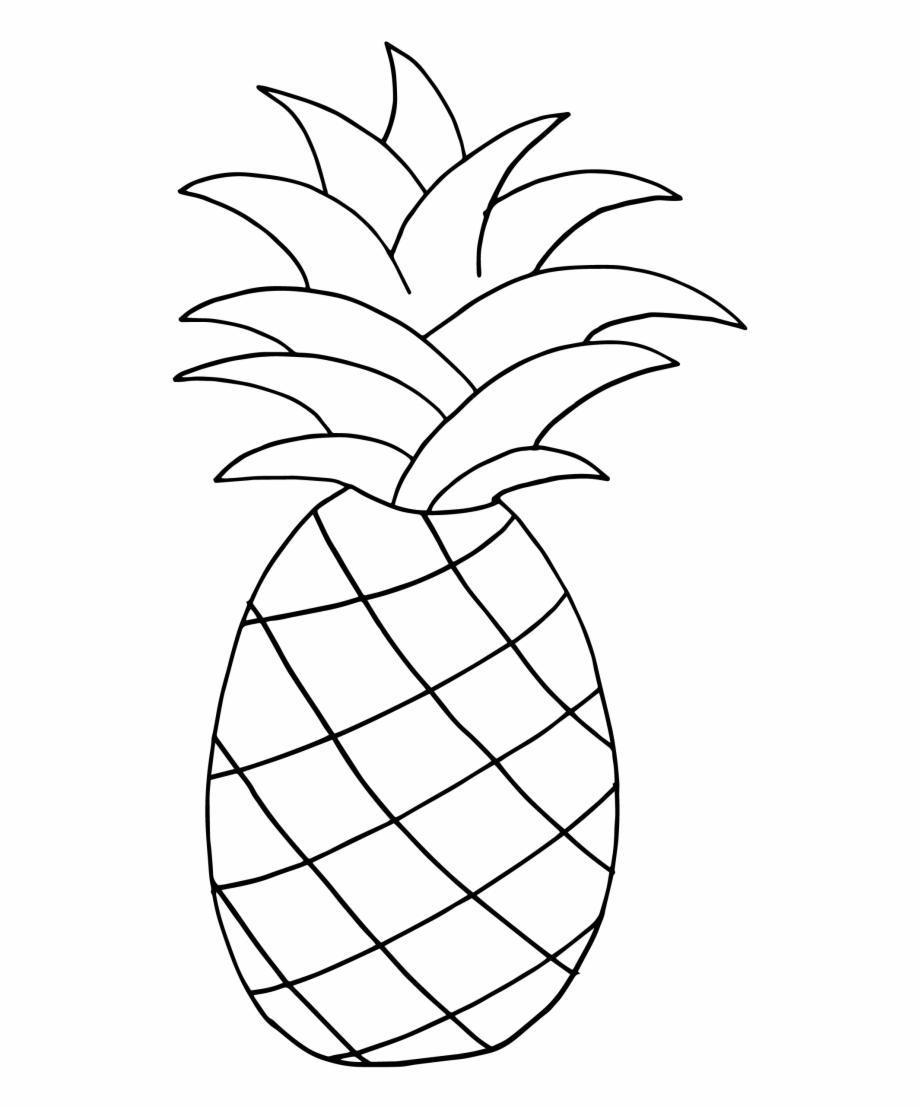 Free black and white pineapple clipart. Figura pi a para