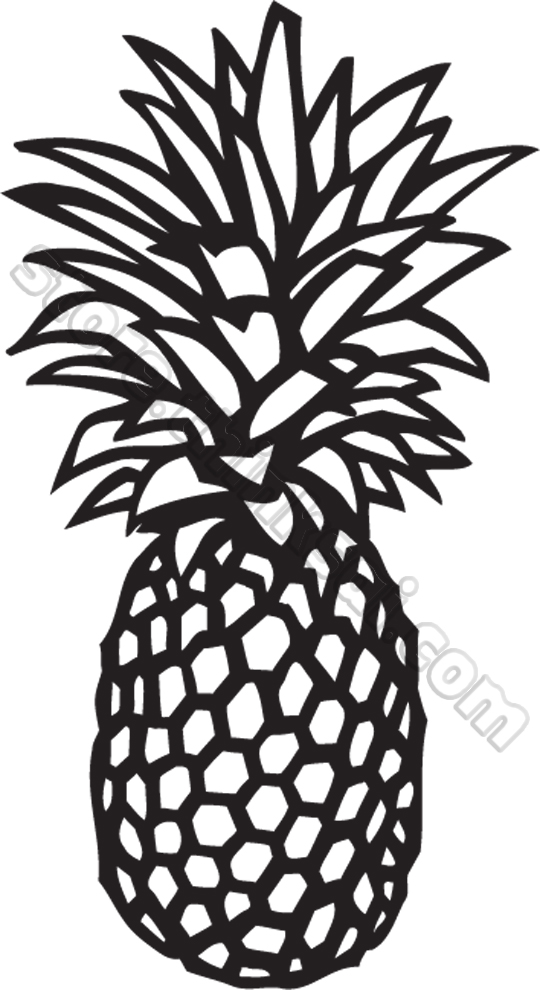 Picture of pineapple clipart black and white svg transparent library Pineapple clipart black and white free clipart 4 - Cliparting.com svg transparent library