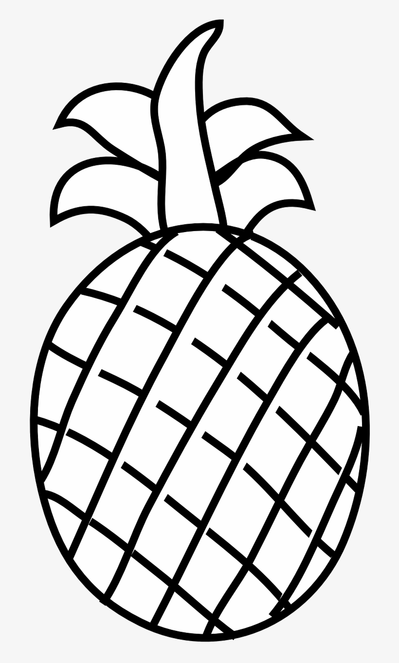Free black and white pineapple clipart. Download png fruit food