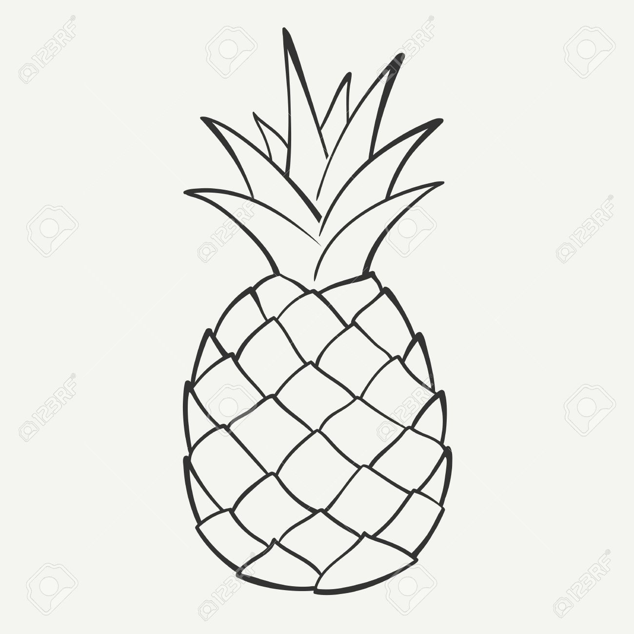 Free black and white pineapple clipart. Stock vector e s