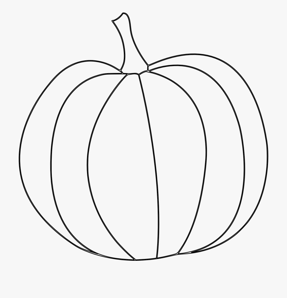 Free black and white pumpkin alphabet clipart vector freeuse stock Pumpkin Line Drawing Clip Art - Free Printable Pumpkin Outline ... vector freeuse stock