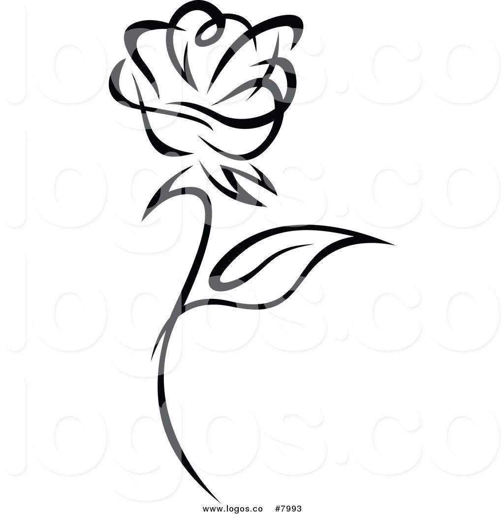 Free black and white rose clipart clipart library Pin by Mircea Chiriciuc on Art | Free vector illustration, Vector ... clipart library