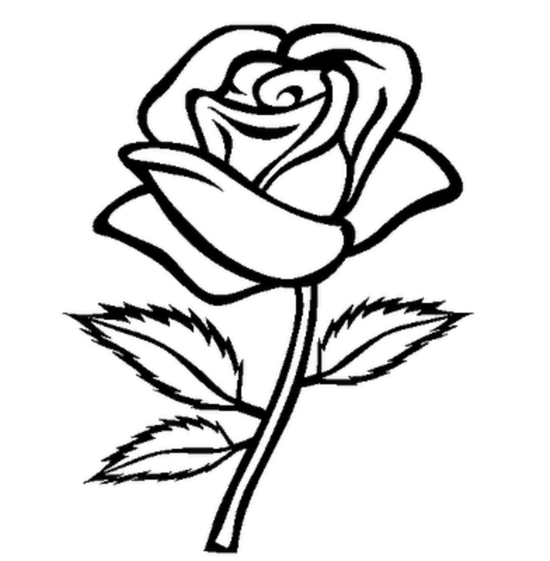 Roses clipart black and white clip art library download Rose Flower Png Black And White & Free Rose Flower Black And White ... clip art library download