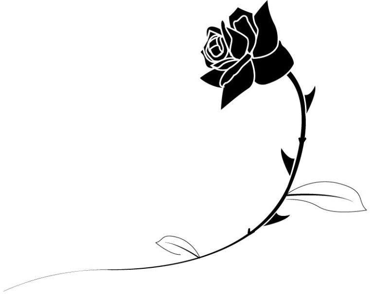 Free black and white rose clipart clip freeuse Top rose clip art black and white images download free - ClipartPost clip freeuse