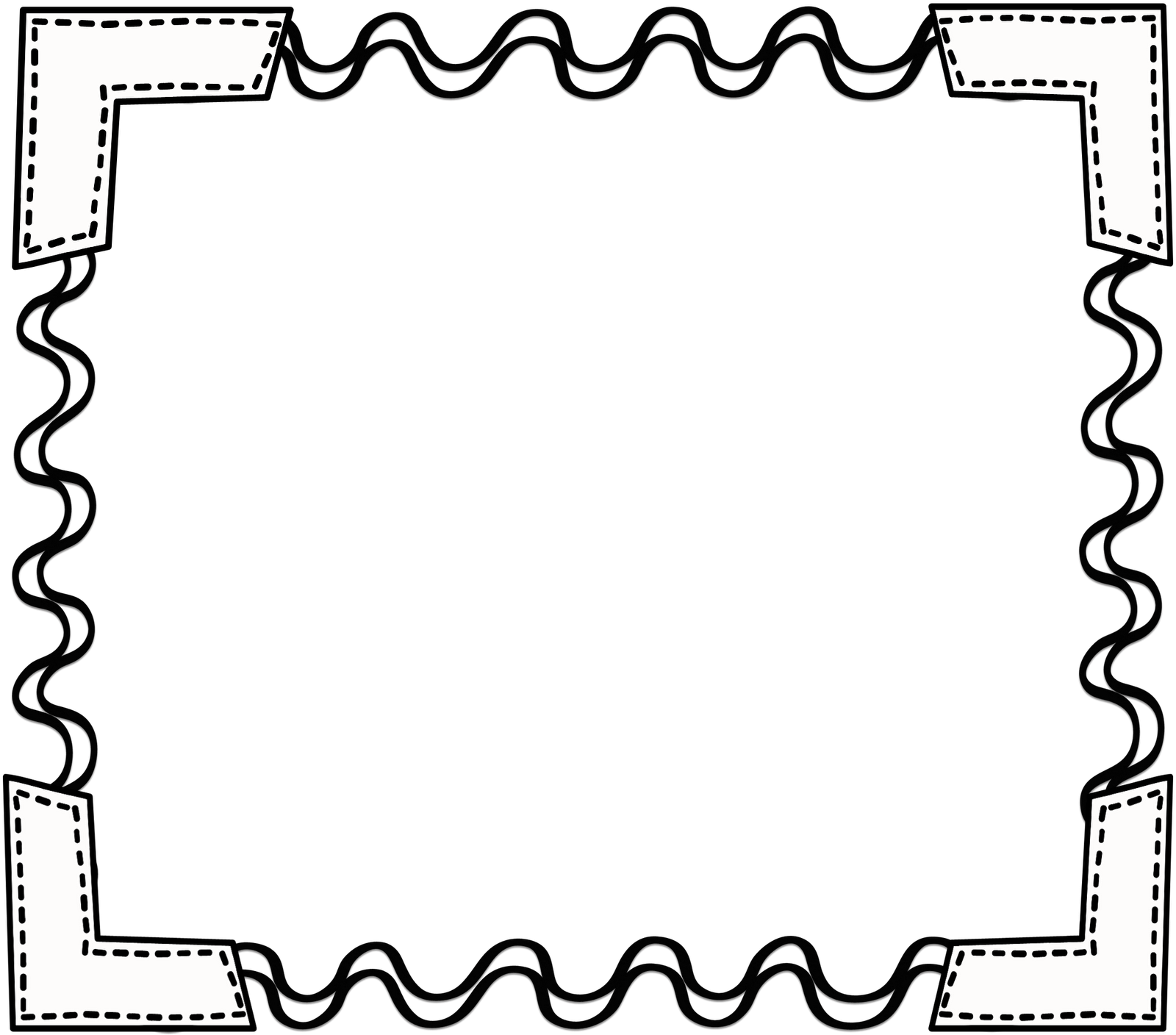 School clipart free borders graphic black and white stock black_white_scribbleframe.png 1,600×1,408 pixels | School ... graphic black and white stock