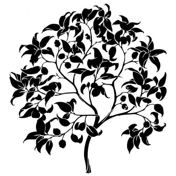 Free black and white silhouette clipart svg library library Tree Silhouette Clipart Free Stock Photo - Public Domain Pictures svg library library