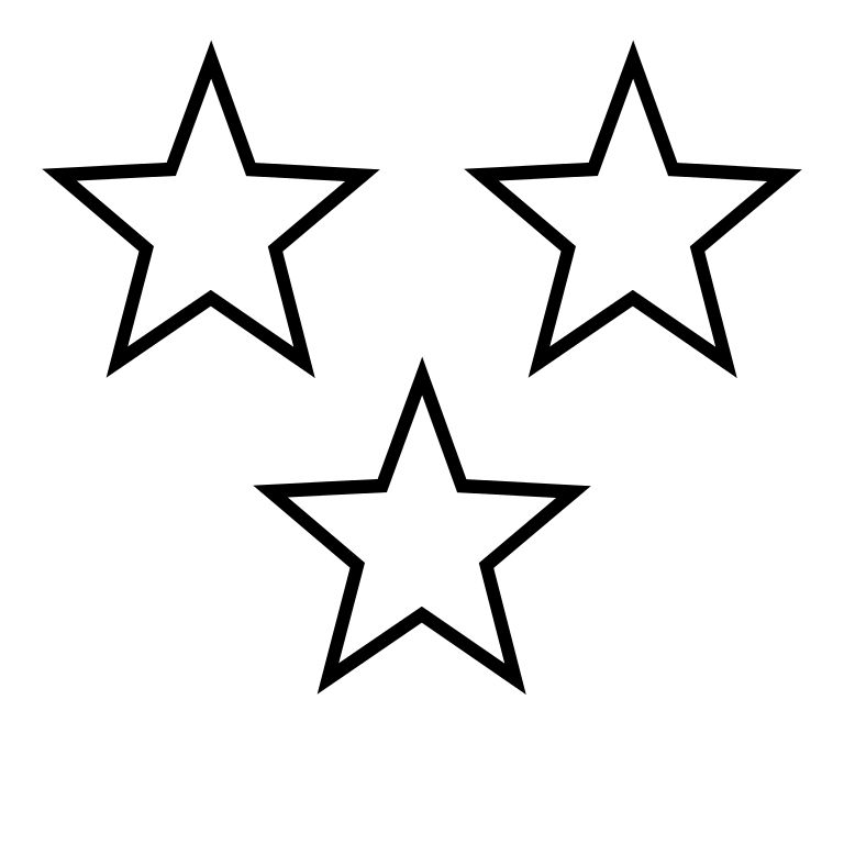 Free black and white star outline clipart clip black and white library Three Stars Clipart & Three Stars Clip Art Images #4001 ... clip black and white library