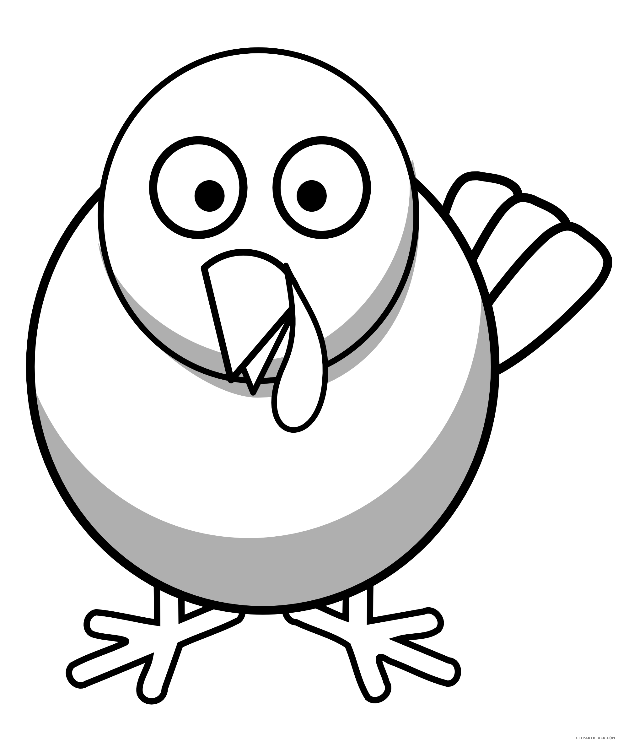 Free black and white turkey clipart graphic Black and White Turkey Clipart - ClipartBlack.com graphic