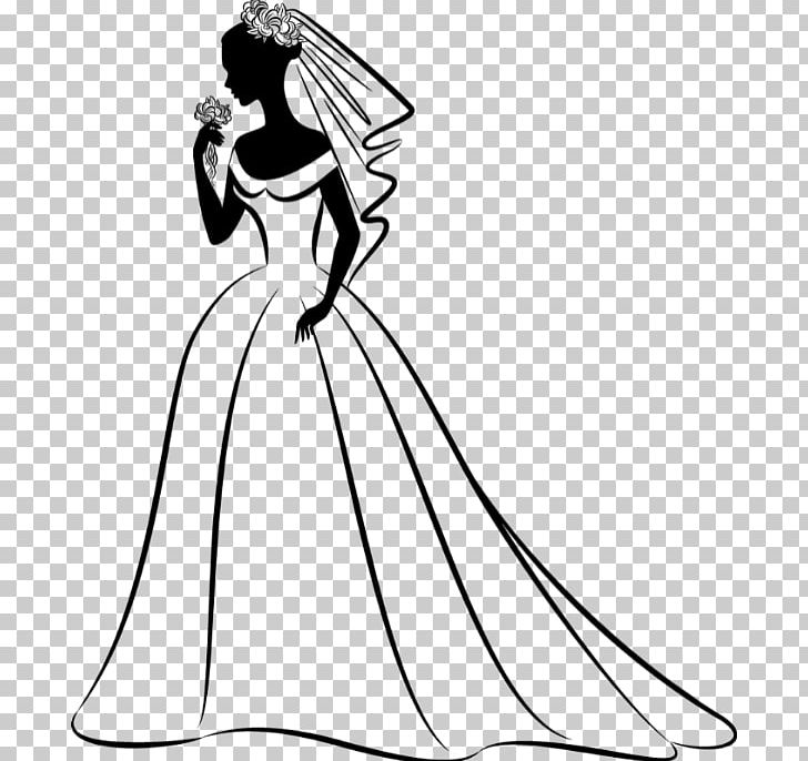 Free black and white wedding invitation clipart. Dress bride png