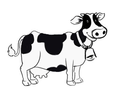 Free black cow clipart black and white jpg transparent stock There Is 55 Black And White Cartoon Clock Free Cliparts All Used For ... jpg transparent stock
