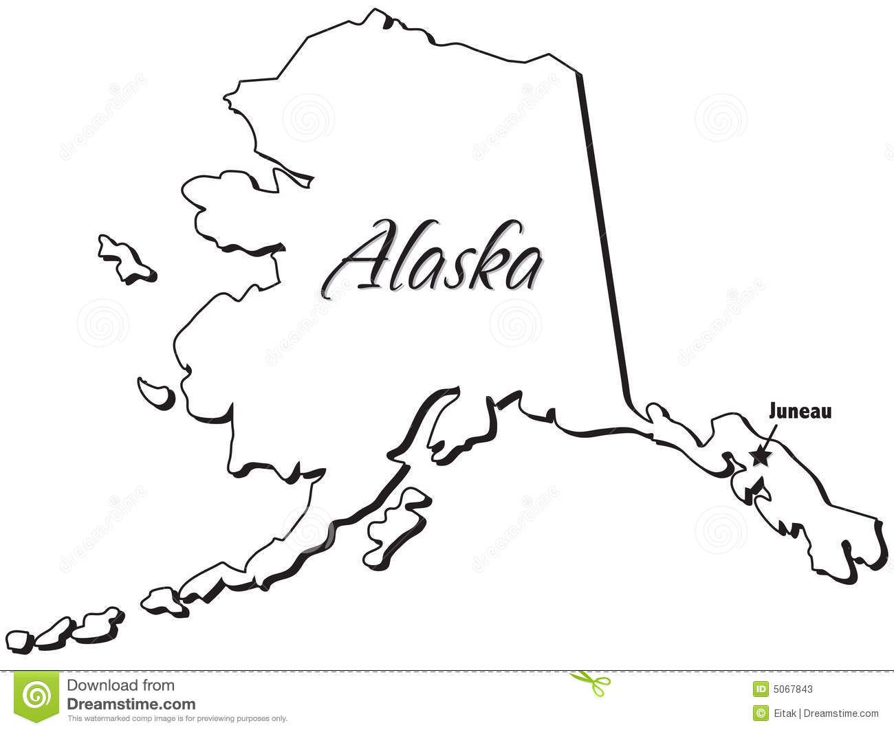 Free black & white clipart alaskian seal clip art transparent stock alaska illustration outline state juneau isolation map ... | Map ... clip art transparent stock
