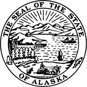 Free black & white clipart alaskian seal vector black and white State Seal of Alaska Logo Vector (.EPS) Free Download vector black and white