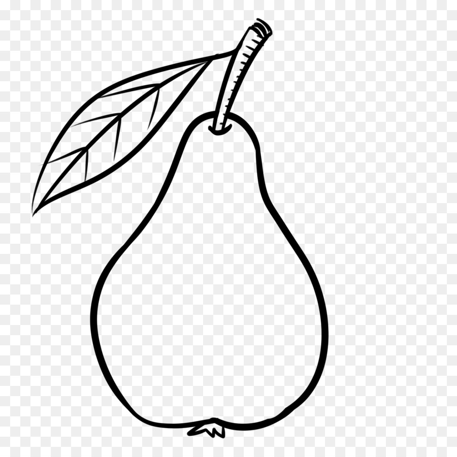 Free black & white clipart of a pear core. Book and png download