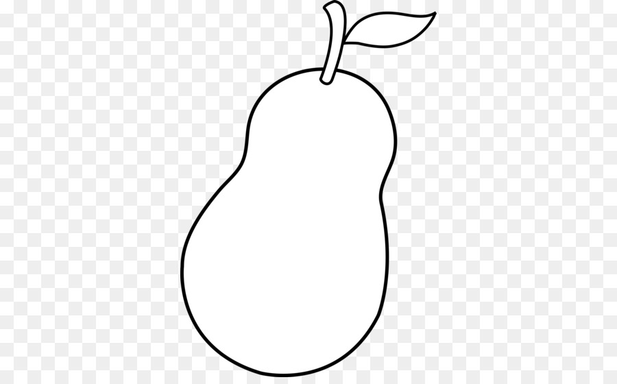 Free black & white clipart of a pear core. Chinese background fruit transparent