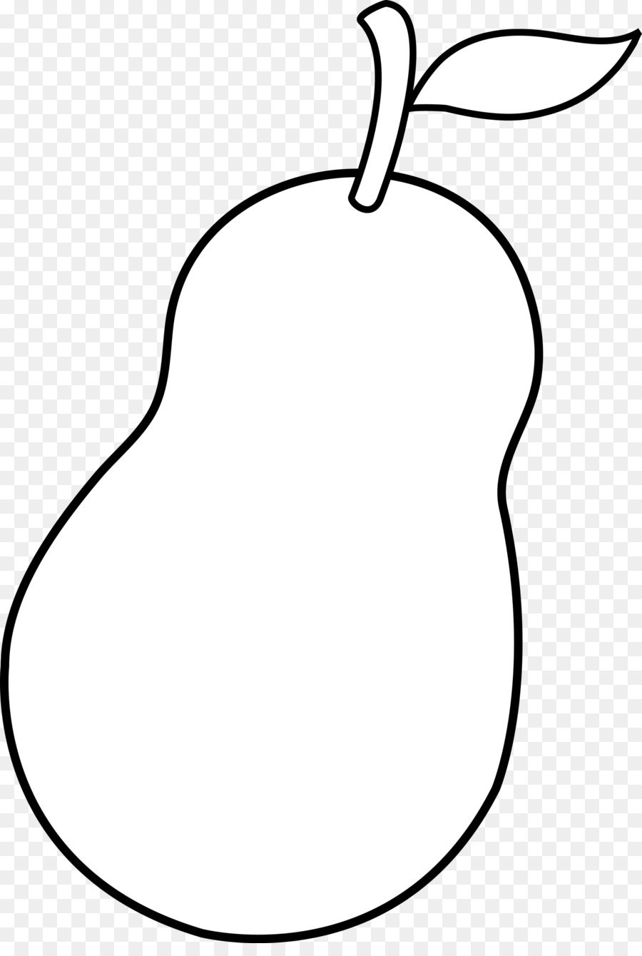 Line background png download. Free black & white clipart of a pear core