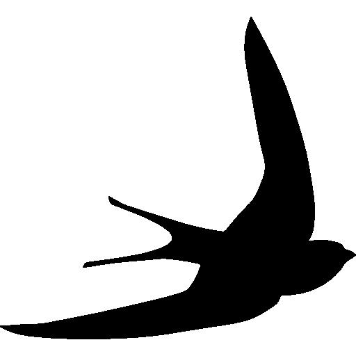 Free black white clipart sswift. Swift bird shape icons