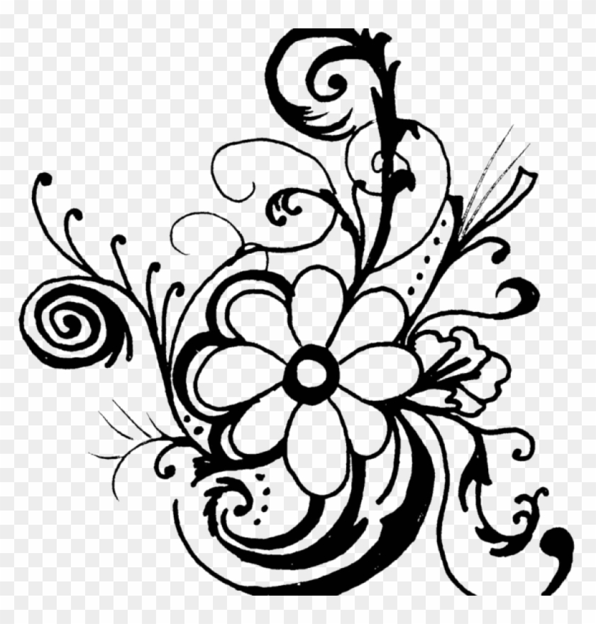 Free black & white flower clipart clip art royalty free stock Flower Clipart Black And White Free Flower Black And - Flower Art ... clip art royalty free stock