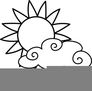 Sun images at clker. Free blackline clipart