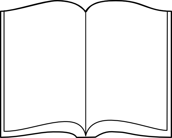 Free blank book template png clipart vector picture freeuse Open Book Outline Clip Art At Clker Com Vector Clip Art Online | vbs ... picture freeuse