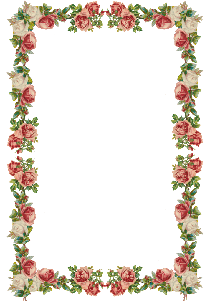 Free blank book template png clipart vector 3d image free stock Free digital vintage rose frame and border png - Rosenrahmen ... image free stock